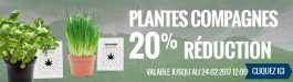 20% Réduction Plantes Compagnes